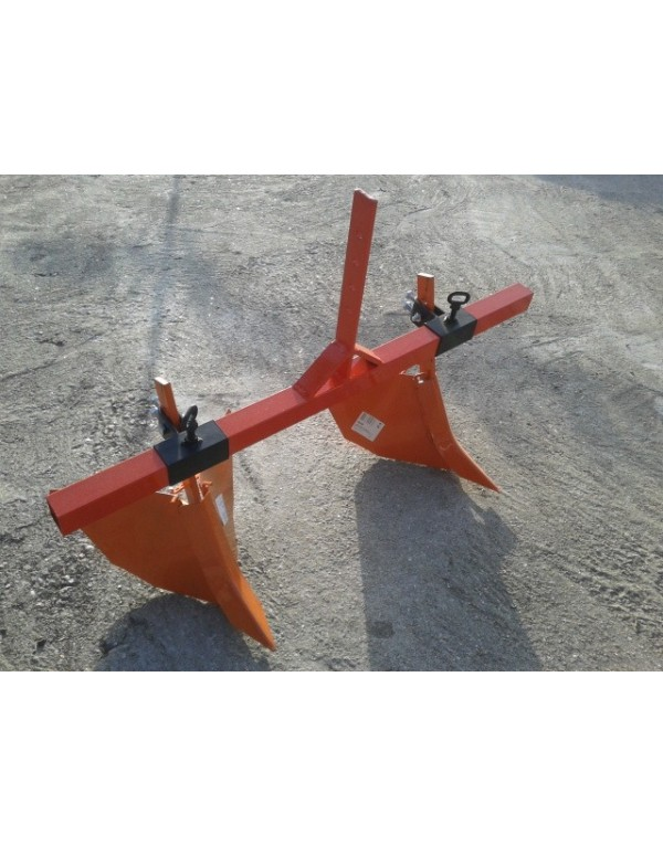 Double plow rotavator